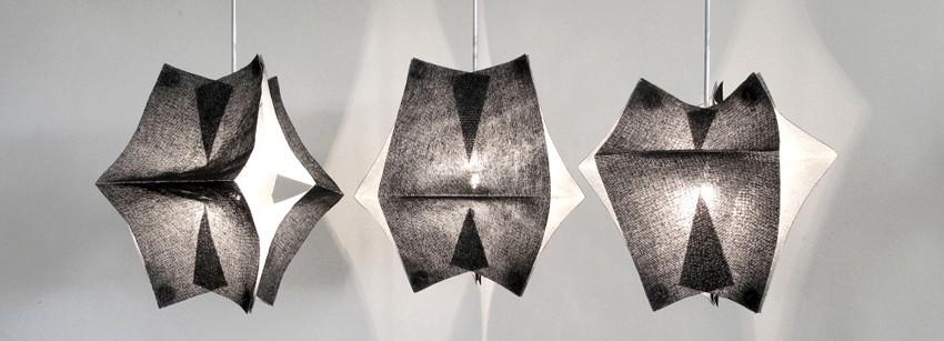 Экстравагантный интерьер: ширма и светильники от японского дизайнера