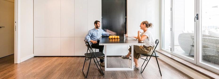 Увеличиваем свободное пространство в доме. Раздвижные стены и мебель-трансформер