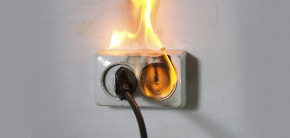 Пожары из-за электропроводки. Основные причины и простейшие способы защиты