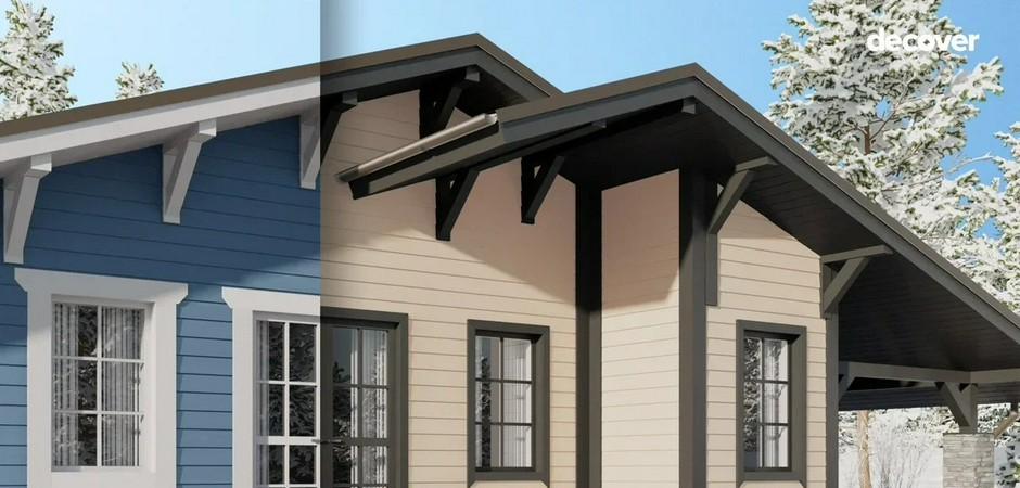 Обрамление фасада: как придать дому завершённый вид